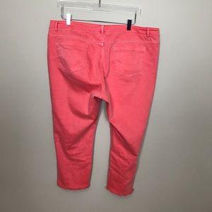 J. Jill Jeans - J. Jill Coral Authentic Fit Cropped Jean.